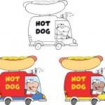 Hot Dog Trucks. Collection Set — Stock Photo #49359757