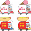Cartoon Delivery Trucks. Collection Set — Stock Photo #49359769