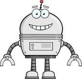 Smiling Robot Cartoon Character — Foto Stock