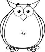 Black And White Owl Cartoon Mascot Character — Stock Photo