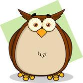 Owl Cartoon Character — Stock Photo