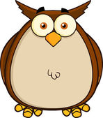 Owl Cartoon Mascot Character — Stock Photo