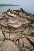 Geological feature of Tung Ping Chau — Stock Photo