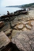 Geological feature of Tung Ping Chau — Стоковое фото