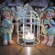 Three angels around a candle — Stock Photo #18270697