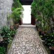 Traditional Chinese garden path — Stock Photo