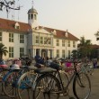 Stock Photo: Bicycle rental, kota, jakarta, indonesia