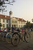Bicycle rental, kota, jakarta, indonesia — Stock Photo