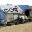 Stock Photo: Very poor condition house in slum