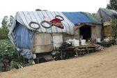 Very poor condition house in slum — Stock Photo