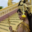 Apsara Dancer Performance in Temple - Stock Photo