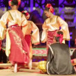 Stock Video: SARAWAK, MALAYSI- JUNE 2012: Iband Malay tribal performance