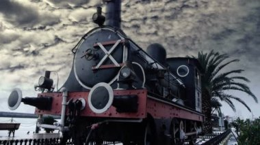 Historic steam engine — Stock Video