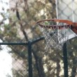 Stock Video: Basket play basketball streetball sport game action