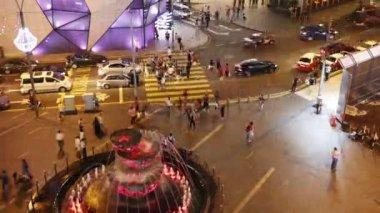 Modern city night life — Стоковое видео