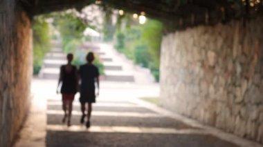 Pareja romántica caminando — Vídeo de Stock