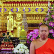 Stock Video: Buddhist Monk