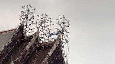 Restoration of temple — Stock Video