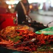 Stock Video: Spicy Thai foods on street