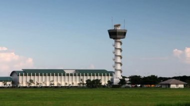 Airport control tower — Stock Video