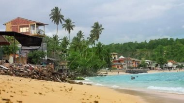 Exotic unawatuna beach, sri lanka — Stock Video