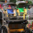 Transportation with cyclo in indonesia — Stock Video