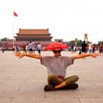 Female tourist at Beijing, China — Stock Photo #38392357