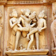 Group Sex Figures in Kama Sutra Temples in India — Stock Photo #38392709