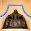 Stock Photo: Genghis KhStatue, Sukhbaatar Square