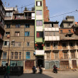 Stock Photo: Extrslim apartment building, Kathmandu