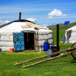Mongolian ger camps with solar power — Stock Photo #38393081
