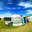 Stock Photo: Mongoliger camps with solar power