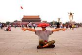 Female tourist at Beijing, China — Stock Photo