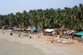 Elevated view idyllic Goa beach — Stock Photo