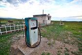 Bizarre gas station pump, mongolia — Photo