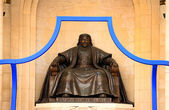 Genghis Khan Statue, Sukhbaatar Square — Stock Photo
