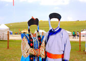 Naadam camp area in ulaanbataar — Stock Photo