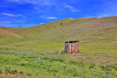 Mongolian wooden squat toilet — Стоковое фото