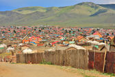 Poor households in outskirts of Ulaanbaatar, Mongolia — Stock Photo