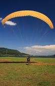 Paragliding over Pokhara, Nepal — Stock Photo