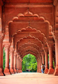 Majestic facade of Red Fort — Stock Photo