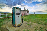 Bizarre gas station pump, mongolia — Stock Photo