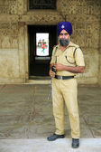 NEW DELHI, INDIA - APRIL, 2013: Indian sikh security — Stock Photo