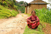 NAGARKOT, NEPAL - JUNE 2013: Nepali vilager at her vilage — Stock Photo