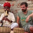 Cobrenchanter, snake charming — Stock Video #38908267