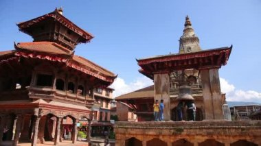 Bhaktapur Durbar Square — Stockvideo