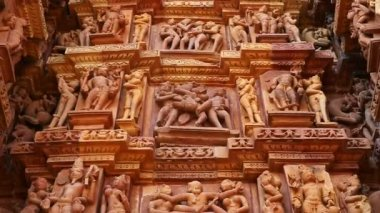 Kama Sutra Group Sex Figures — Stock video