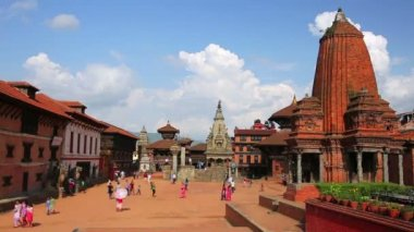 Bhaktapur Durbar Square — Video Stock
