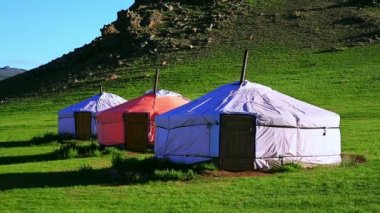 Mongolian Yurt — Stock Video