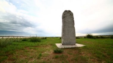 Orkhon inscriptions, oldest turkic monuments — Stock Video